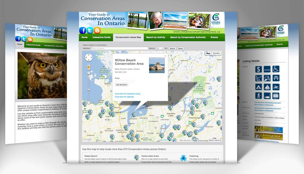 Conservation Area Search Website