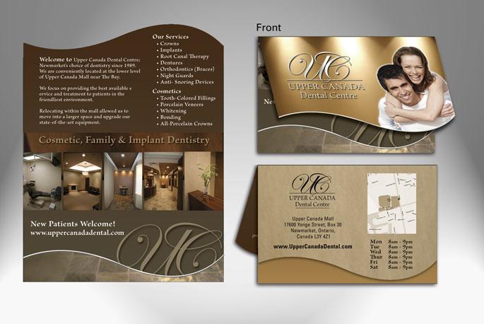 Graphic design logo design brochures business cards newmarket business card design folding uc dental reheart Image collections